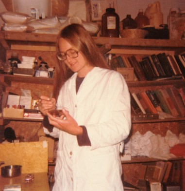 Deborah Flowers lab technician volunteer in Guatemala with Plenty International